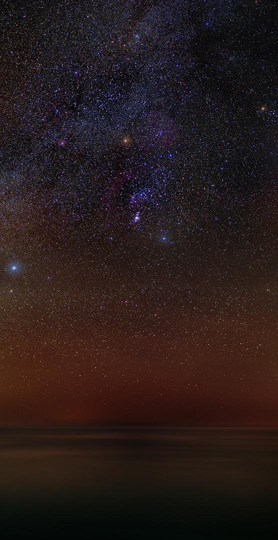 Orione stelle sul mare