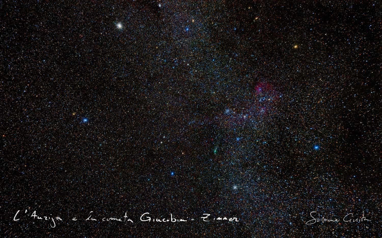 L'auriga e la cometa Giacobini zinner
