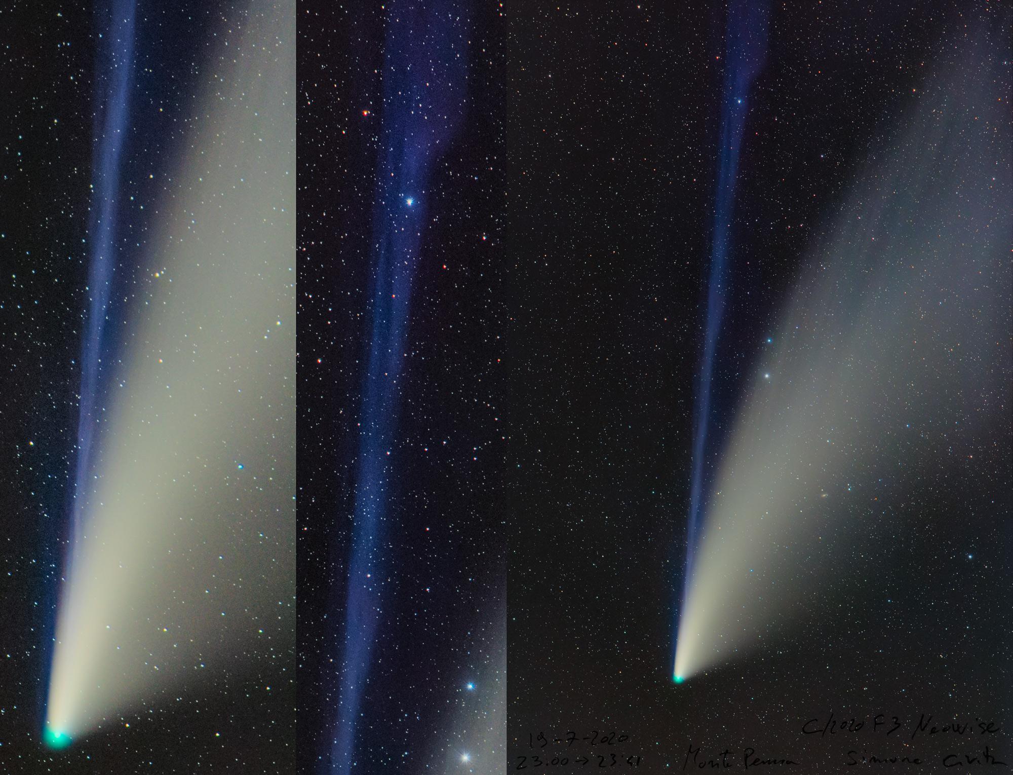Cometa Neowise 19 luglio dal Monte Penna Simone Civita