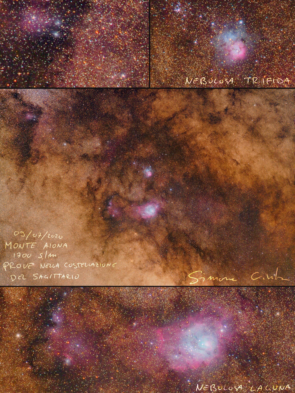 Nebulosa Trifida e Laguna dal monte Aiona 1700m Simone Civita 2020